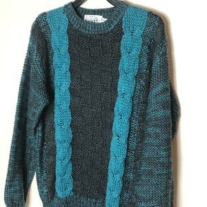 Chunky knit sweater, size Large(men's)